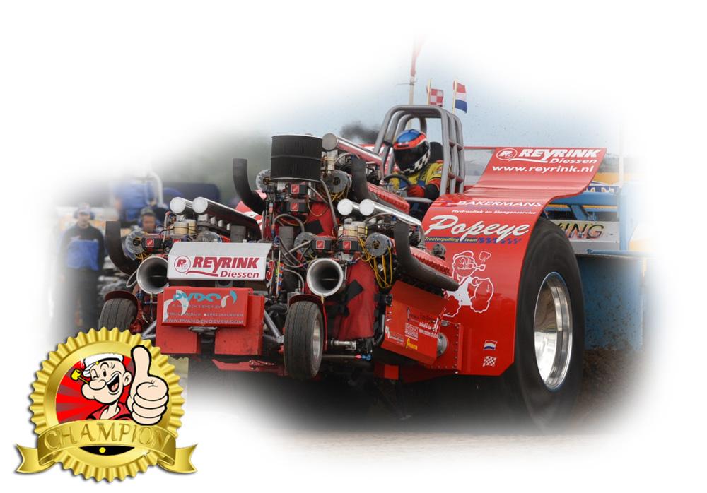 Tractorpulling team Popeye